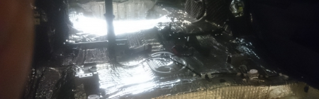 Auto salong ja pagasiruum pärast müraisolatsiooni installeerimist.