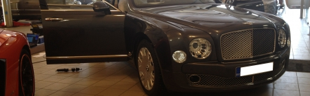 Bentley Mulsanne kiletatud tagumine ring