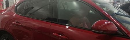 Stiili jagub. Moodne toonitud Itaallane. Alfa Romeo Giulia