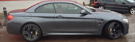 2015 BMW M4 cabrio kiletatud terve ring